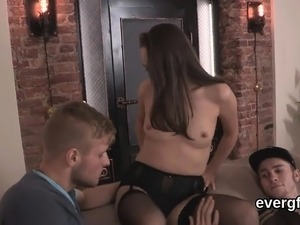 Penniless lover lets nasty buddy to plow his companion for h