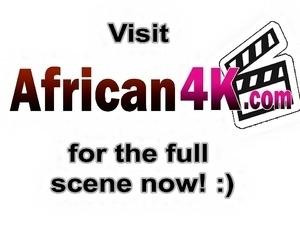 Amateur Africans slut sucks long white schlong