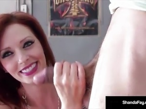 Canadian Cougar Shanda Fay Blows Her Man In Public Car Shop!