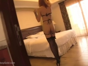 twink leather asian ladyboy video