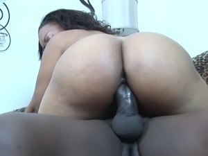 Black butt ebony banging on big black cock hardcore
