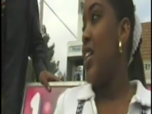 BBC Guy Picks up Young Ebony from Bus Stop