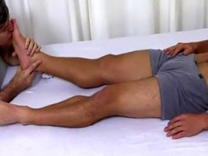 Hairy leg licking gay Tommy Gets Worshiped In His Sleep