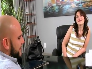 Petite Teen shows off for casting