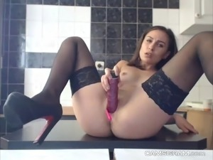 Hottest Cleanshaven Camgirl Using Toys On Webcam