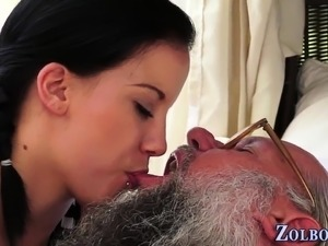 Old man fucks girl