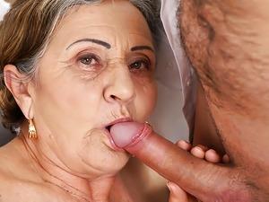 granny plump big tits hairy pussy