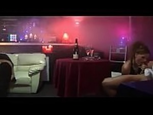 crazyamateurgirls.com - Sexy strippers suck and fuck horny clients in a club...