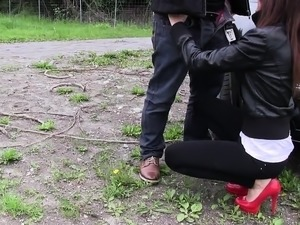 hot homemade outdoor blowjob video