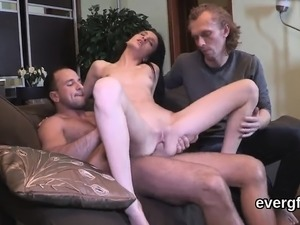 Penniless stud allows wicked buddy to shag his lover for cas