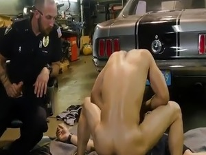 Cop self suck gay Get poked by the police