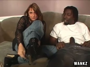 Amazing white trash slut gets rid of her black stuff to suck massive BBC