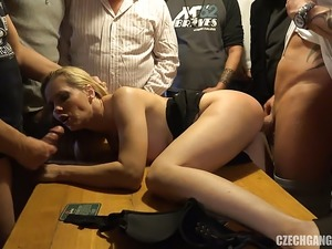 blonde squirting on black cock