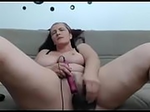 girl with dildo in ass