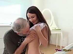Teen fucked old man