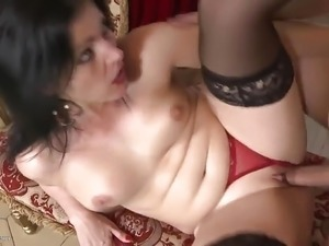 Teen taking big cock