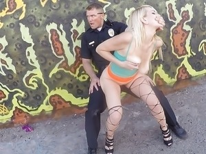 video public train stunning blonde fucks