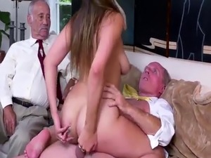Old man cum shots