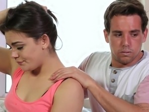 Some good relaxing massage ends up with quite good fuck with Kimber Woods