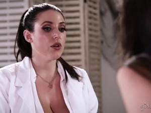 Serena Blair and Angela White enjoy fingering each other's twats