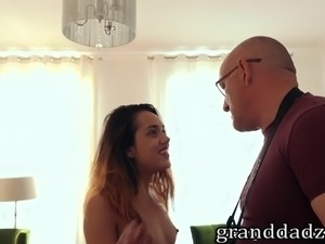 old man hot girl sex