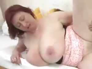 Lady with big tits