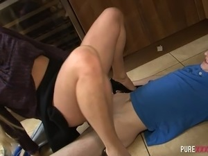 blonde pussy abuse