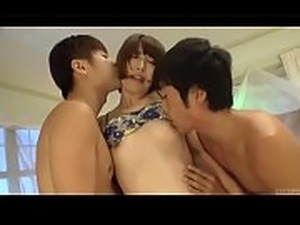 Subtitled shaved Japanese Seira Matsuoka threesome begins