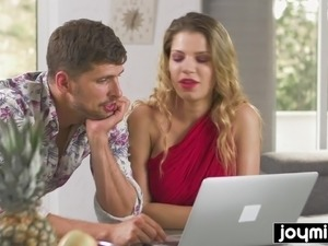 Joymii horny model gets fucked in the ass after photshoot