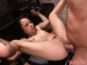 forced anal movie bdsm hogtied