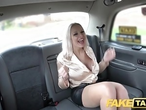 Fake Taxi Busty cock hungry blondes filthy taxi threesome