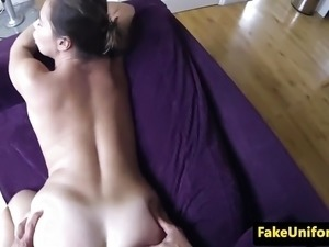 British slut anal fucked by uniformed cop