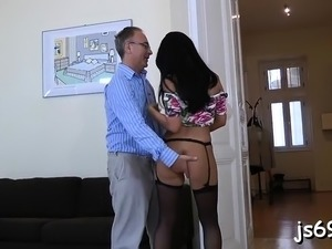 black girl fucking old man