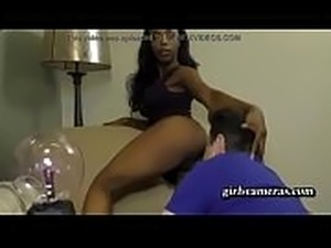 Bratty Black Stepdaughter Makes Her Stepdaddy Worship Her