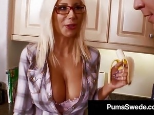 busty blonde glasses nylon videos