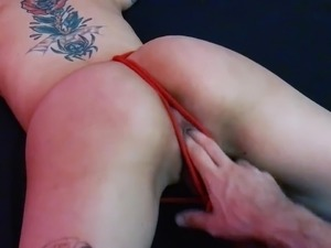 tied up pussy sucking