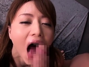 Asian cutie gets finger drilled and gives head to her man