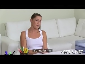 Female agent likes being screwed