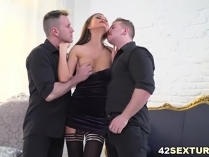 mature ladies giving double handjob