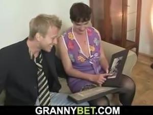 granny first black sex