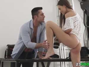 mature footjob movies