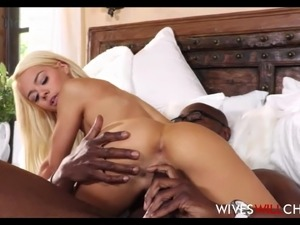 Blonde Tiny Teen Cheating Wife Elsa Jean Fucked By Black Guy