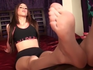 lesbian foot slave servicing two girls