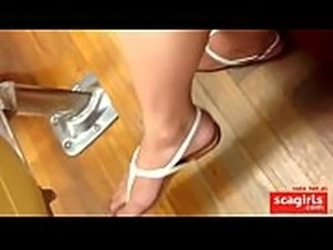 womens petite feet in nylon stockings