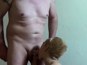 blonde girl blowjob choking