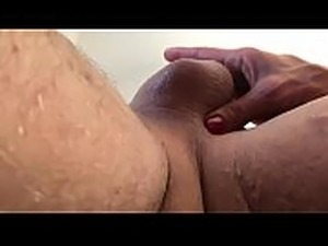cock and balls inserted into pussy