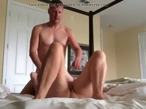 Mature woman fucked by husbands friend in all her holes
