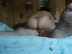 wife masterbates during gie style sex