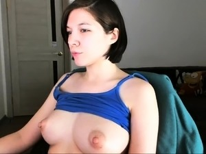 sexy brunette massive tits perky nipples